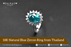 Make a promise to her with this blue zircon ring, crafted by hand in Chiang Mai
