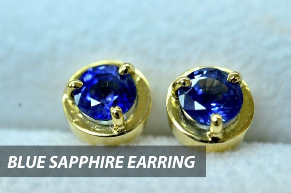 Shopping for a September Birthday? Try blue sapphire earring and UN-worry your concern about size.