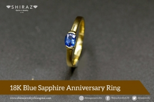 Affordable blue sapphire ring for anniversary gift for her