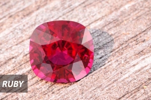 Ruby gemstone in Chiang Mai